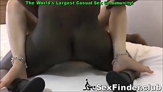 Husband Films Soccer Mom Wife Fucking 2 Big Black Cocks