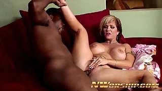 Horny WIFE SLUT Cheating with BLACK LOVER