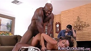 Mistress fucks black dong