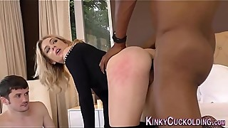 Ass banged cuckolder babe