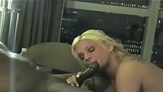Amateur Blond Wife in a Gangbang interracial