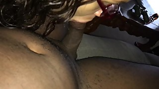 Sexy wife plays with my dick pt1