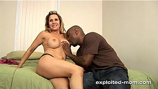 Sexy milf fucks big black cock for facial in Amateur Wife Video