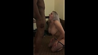 Busty hotwife with her black lover