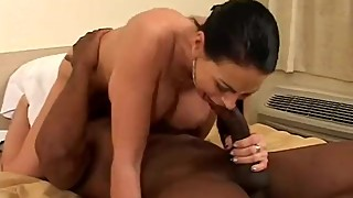 BBC Slut Picks Up Guy by Flashing Tits