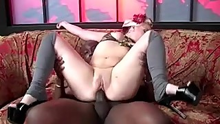 Cuckold licks cum off Candy Monroe