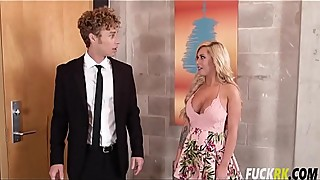 Brandi Bae In Blonde Bombshell Wife is Home Alone