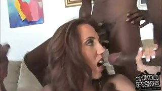 Cuckold kiss wife after sucking BBC