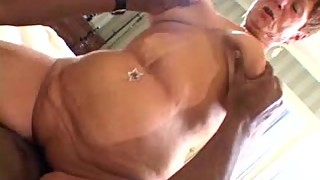 68 year old grandma handles big cock like a pro in Amateur Interracial Video