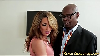 Housewife fucks black rod