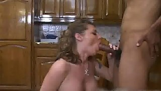 Cute bigtits housewife plays with black part4