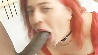 Fat Housewife Takes Huge Black Cock Up Her Tight White Ass