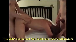 Real Amateur Wife In Homemade MMF Threesome