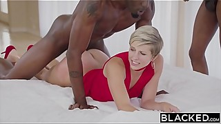 BLACKED Housewife Fucks Two BBCs