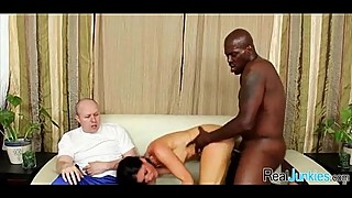 Mom makes son watch her get fucked by big black cock 320