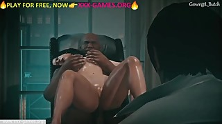 Interracial fuck with cuckold in office. Great porn game
