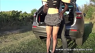 Hotwife gets fucked by a young BBC outdoors