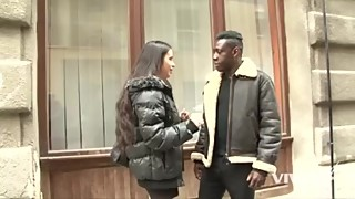 Horny girl picks up a man from the street