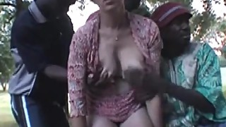 French Wife Nadine Takes Blacks In The Park