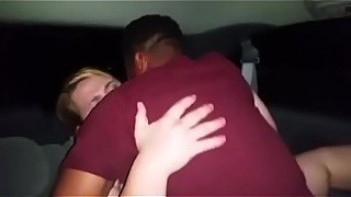 Sharing my milf wife in back of car interracial fuck