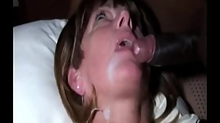 Cheating Slut Wife cant take her hands of the BBC