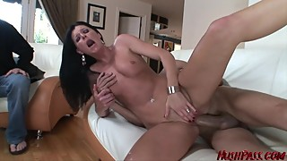 Slut Wife India Summer takes a big cock stuffing as husband watches