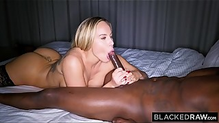 BLACKEDRAW Trophy wife fucks bbc in hotel and calls husband