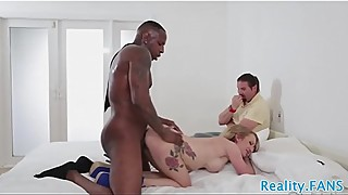 Faketit milf fucked interracially in cuckold
