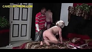 Tatttoed Blonde Sucks And Rides BBC