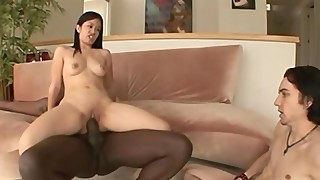 Asian wife interracial cum eating cuckold